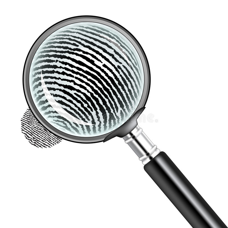 Magnifying glass stock illustration