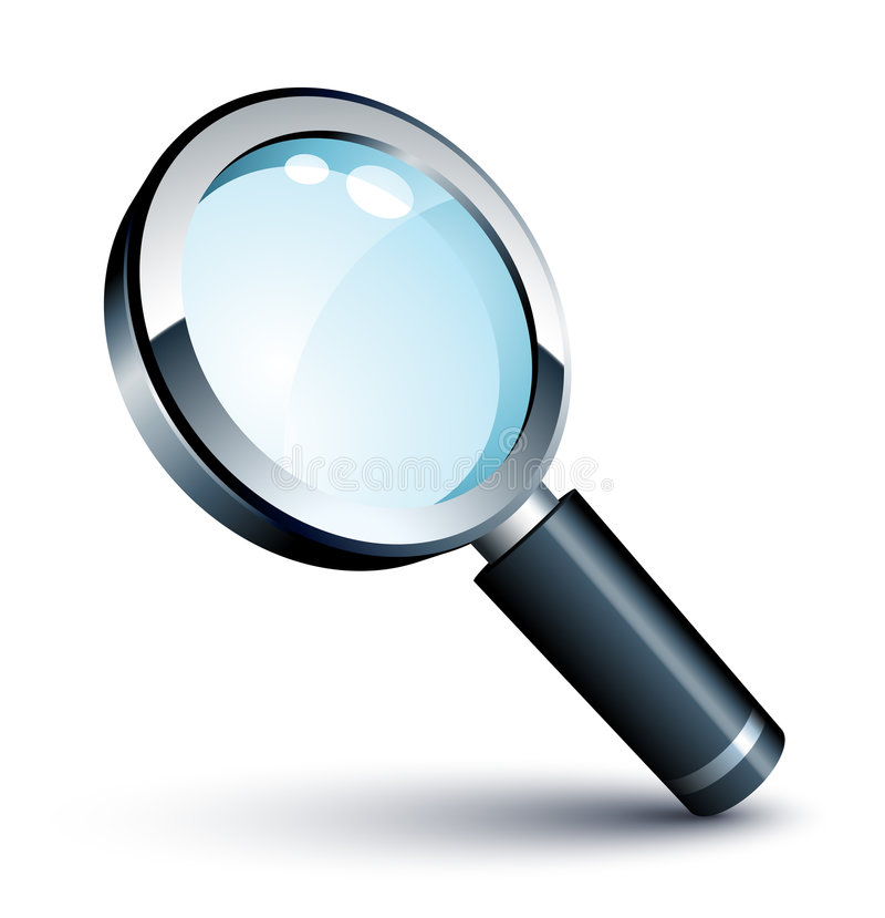 Download Magnifying Glass stock vector. Illustration of search - 8595801