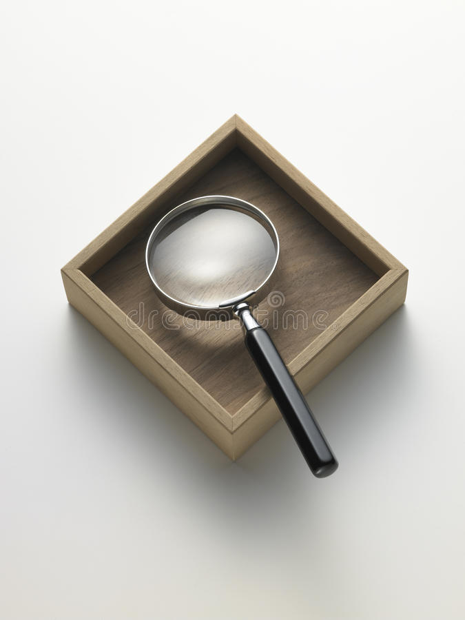 Magnifying glass in the box