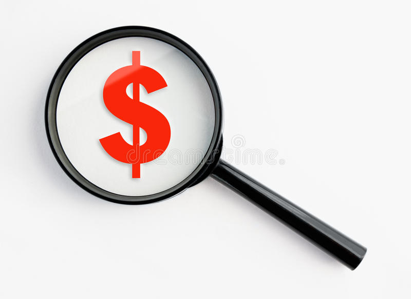 Download Magnifying Glass With Dollar Symbol Stock Photo - Image: 21902880