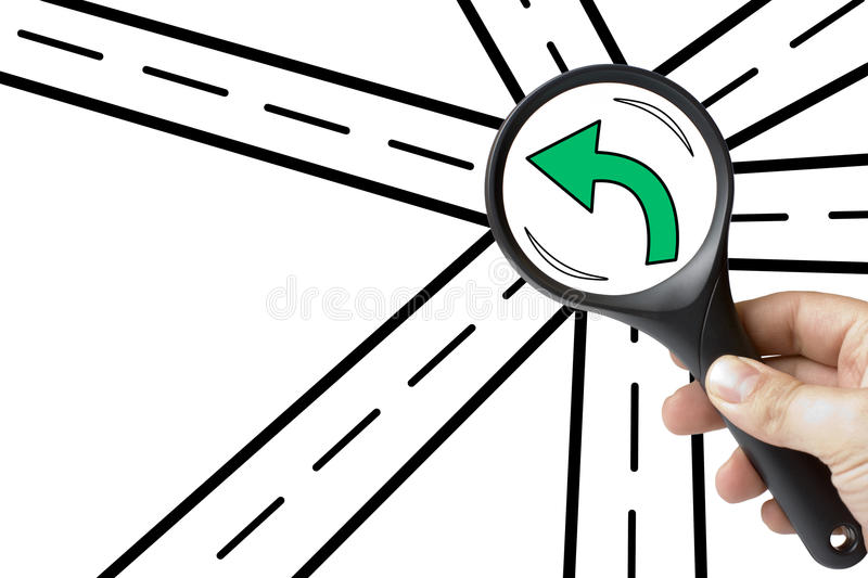 Download Magnifying Glass Finding Success Way Stock Image - Image of future, discovery: 39505847