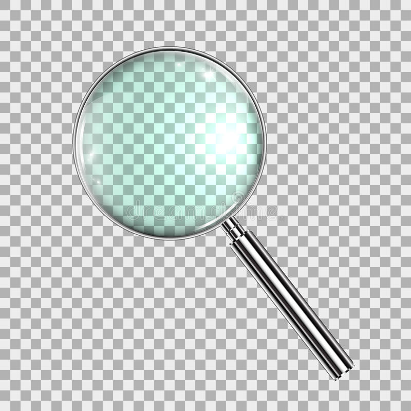 Magnifying Glass, With Gradient Mesh, Isolated on Transparent Background, With Gradient Mesh, Vector Illustration eps10 royalty free illustration