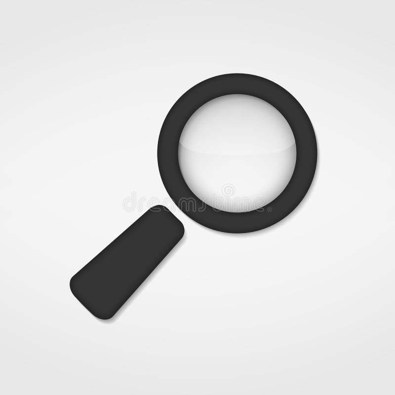 Magnifying Glass Icon stock illustration