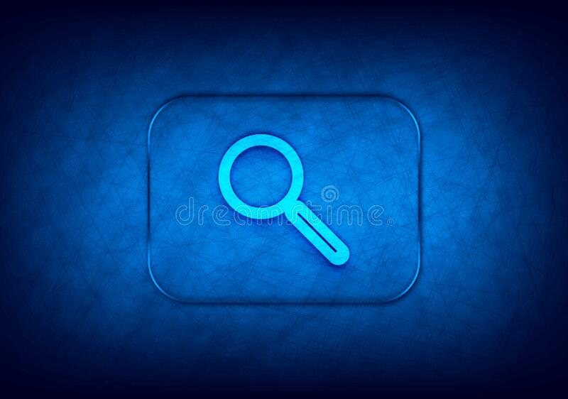 Magnifying glass icon abstract digital design blue background. Magnifying glass icon isolated on abstract digital design blue background stock illustration