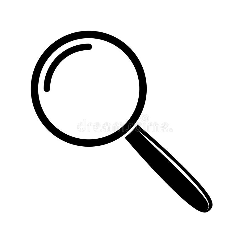 Magnifying glass icon vector illustration
