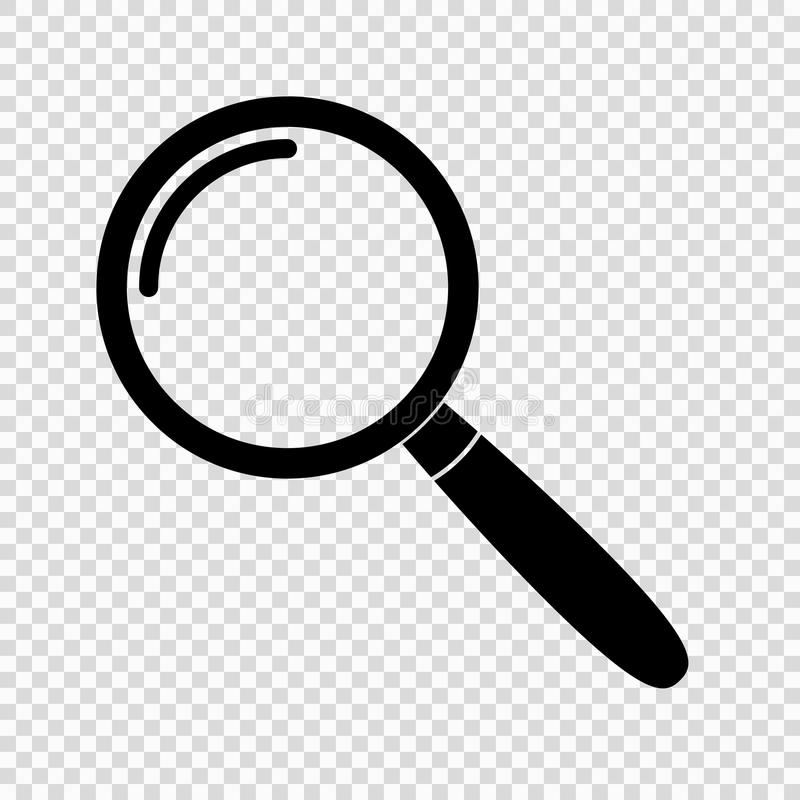 Magnifying glass icon royalty free illustration