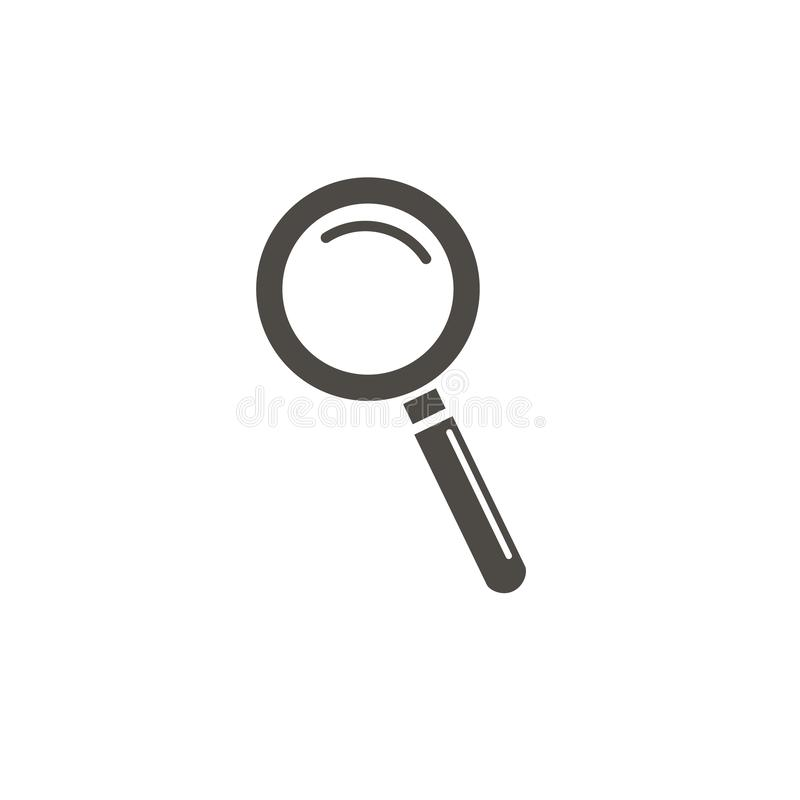 Magnifying glass icon, vector magnifier or loupe sign. Vector icon royalty free illustration