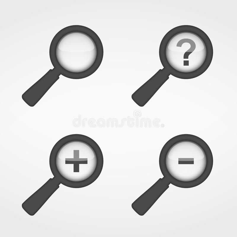 Magnifying Glass Icons vector illustration