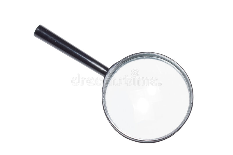 Magnifying glass isolated stock photos