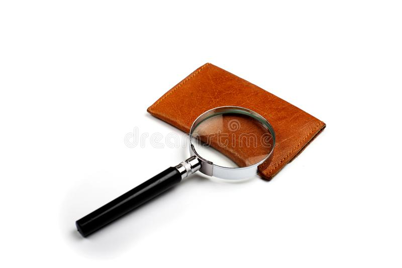 Magnifying Glass on White Background royalty free stock photography