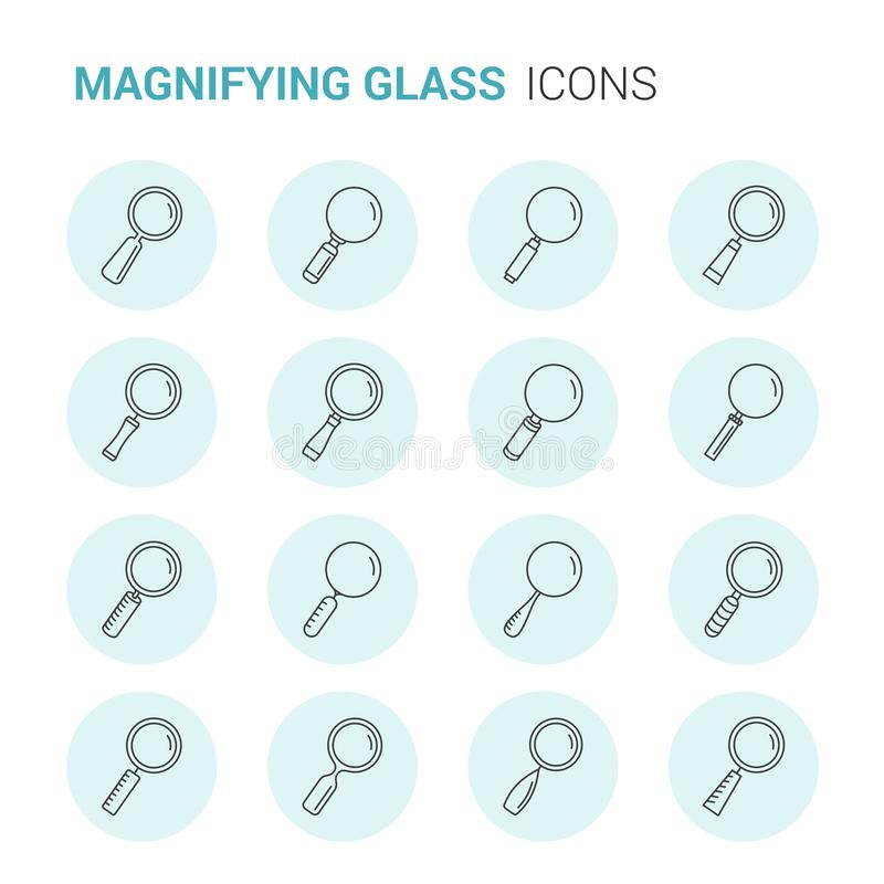 Magnifying Glass Icons royalty free illustration