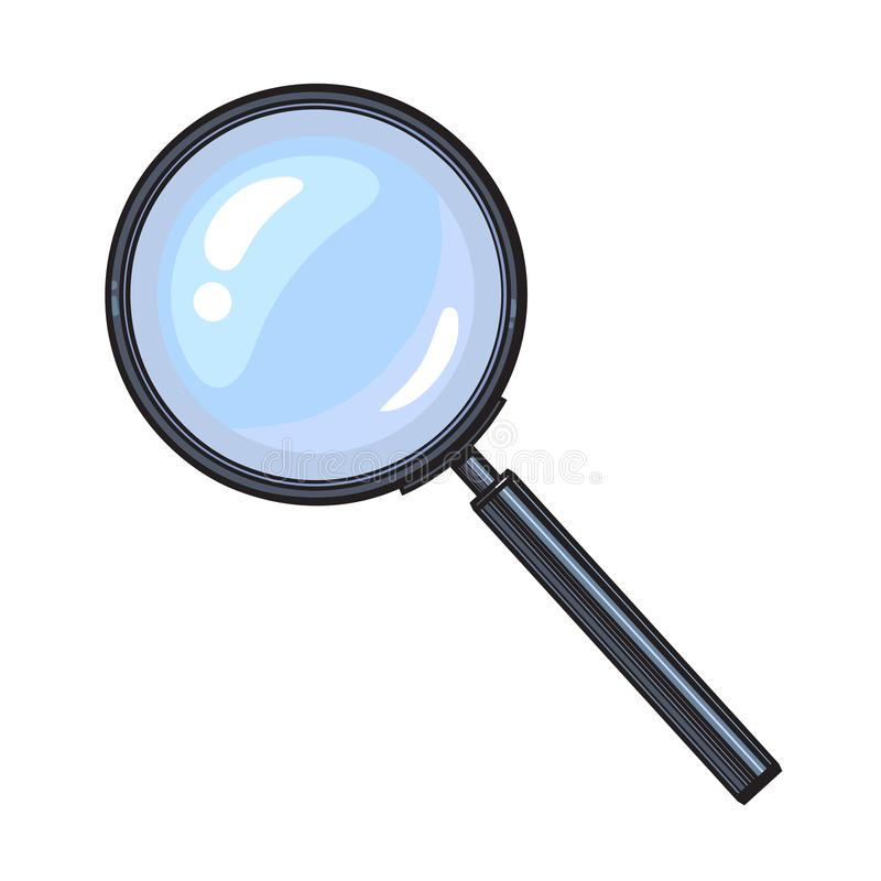 Cartoon minimalistic magnifying glass vector png image_picture free  download 611710426_lovepik.com