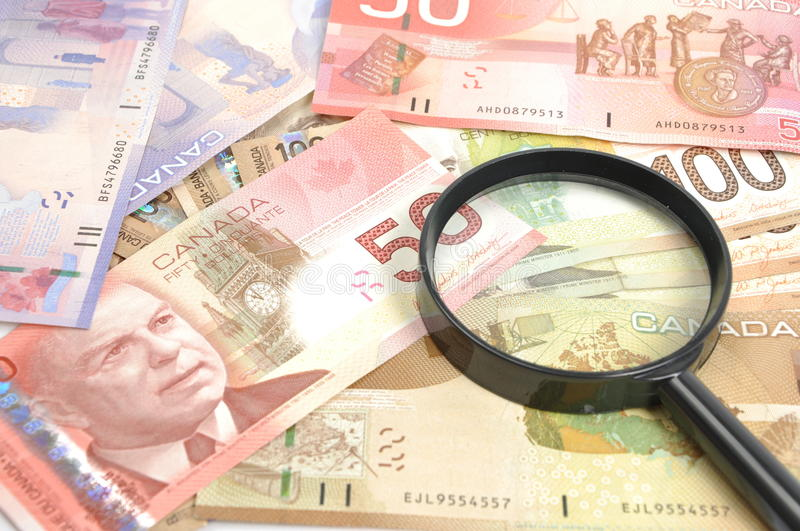 Download Magnifying Glass On Money Background Stock Image - Image: 21645323