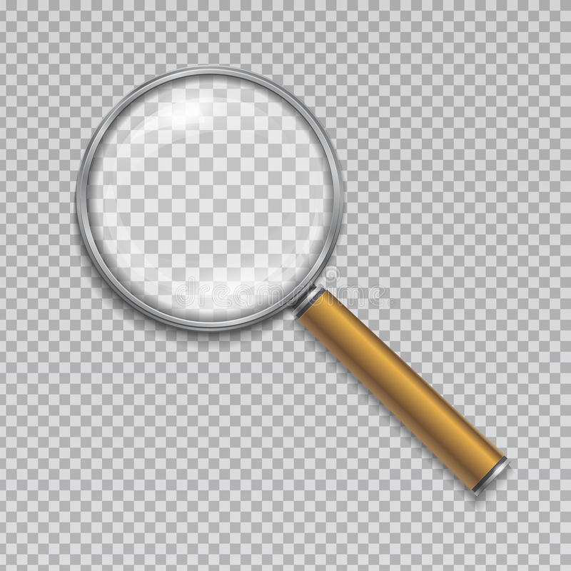 Magnifying glass. Realistic vector illustration stock illustration