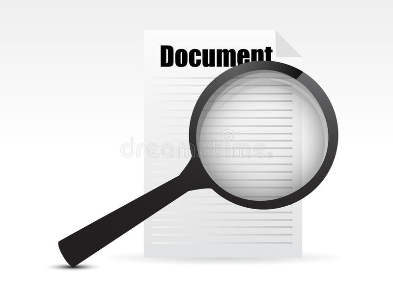 Search The Document Stock Illustration