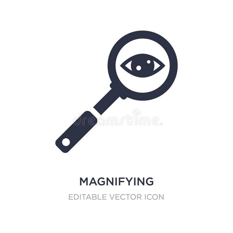 Magnifying glass searcher icon on white background. Simple element illustration from General concept. Magnifying glass searcher icon symbol design vector illustration