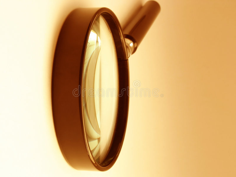 Free Magnifying Glass - Sephia Royalty Free Stock Images - 329379