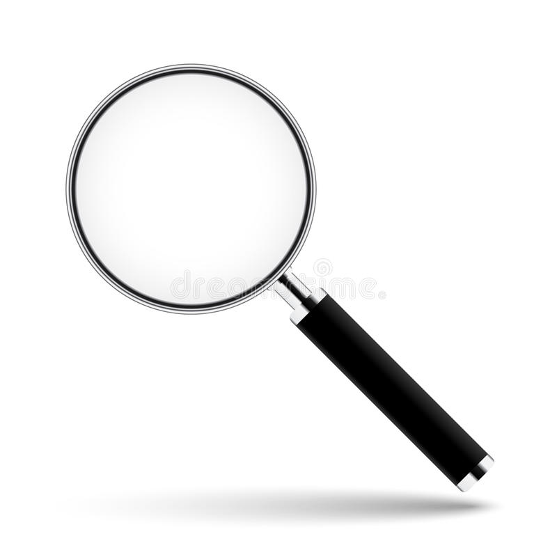Magnifying glass with transparent glass vector illustration