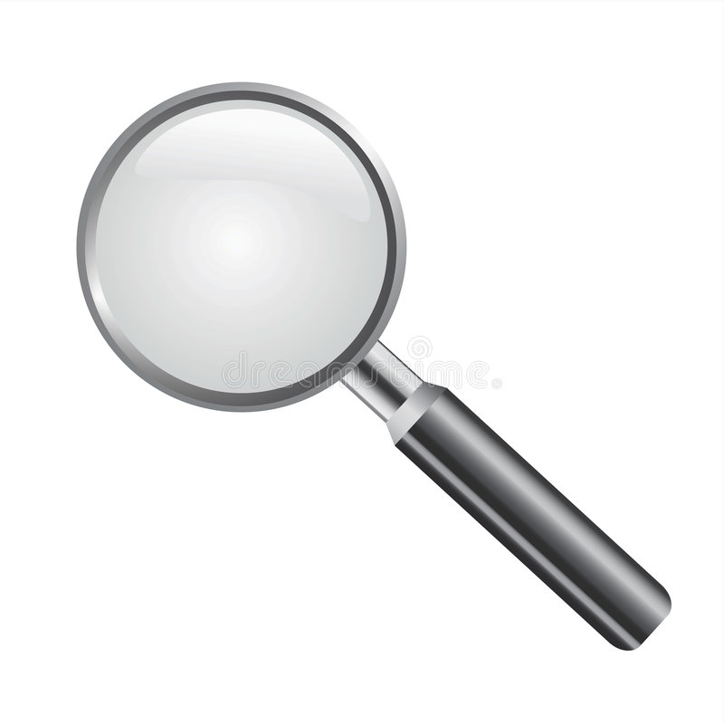 Magnifying glass vector. Magnifying glass detail illustration vector