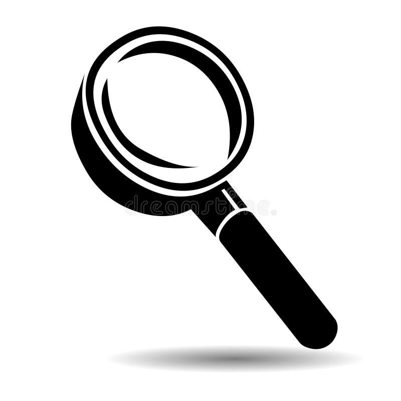 Magnifying glass vector icon logo illustration vector illustration