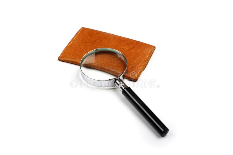 Magnifying Glass on White Background stock photography
