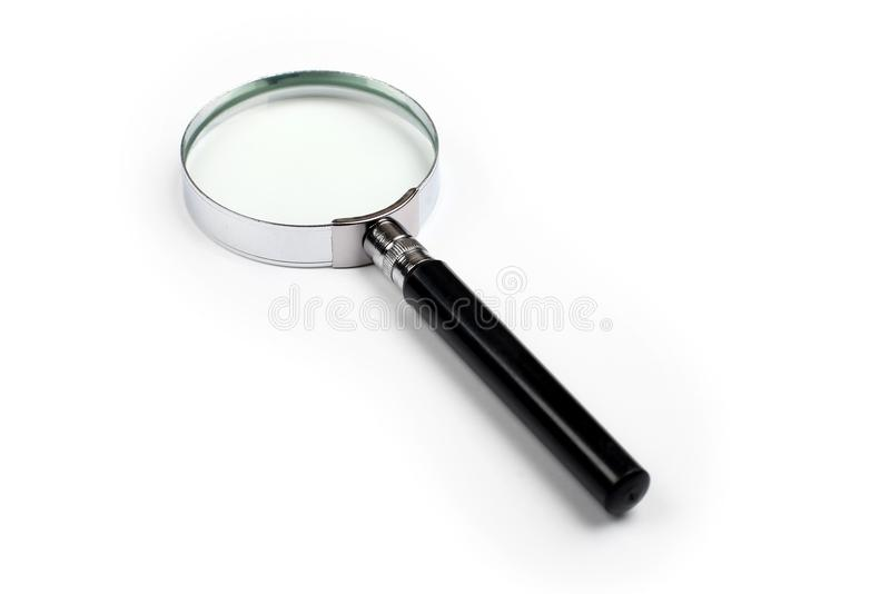 Magnifying Glass on White Background stock images