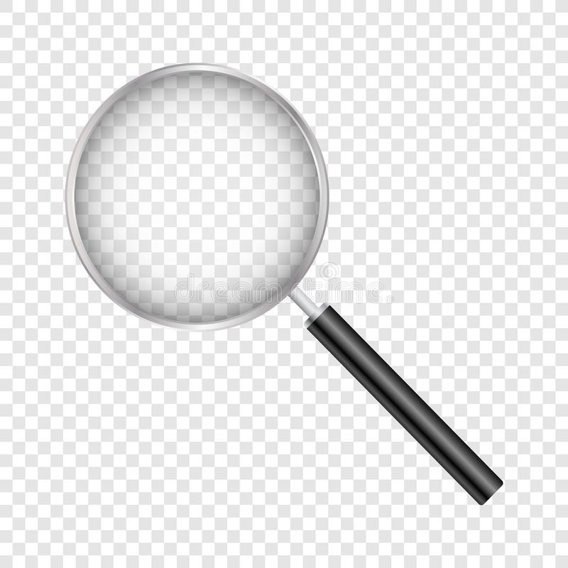 Free Magnifying Glass, With Gradient Mesh, Isolated On Transparent Background, With Gradient Mesh, Vector Illustration Stock Photo - 143040380
