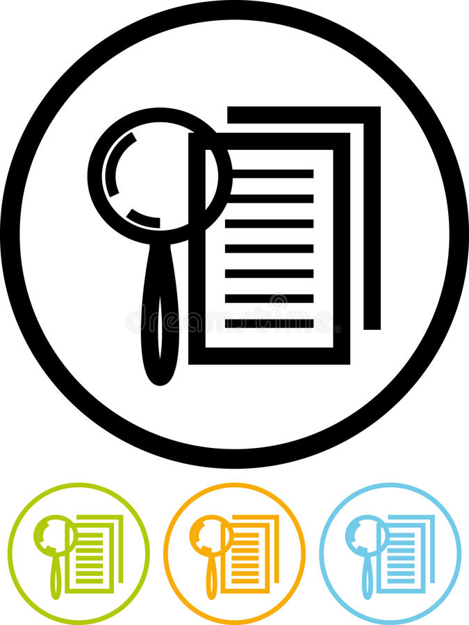 Download Magnifying Lens And Document - Vector Icon Royalty Free Stock Image - Image: 22288856