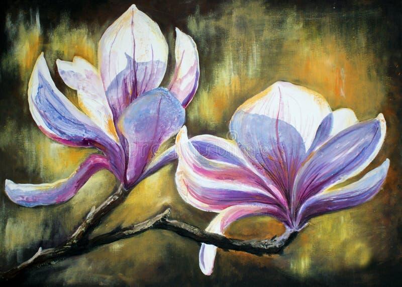 Magnolia ilustración del vector