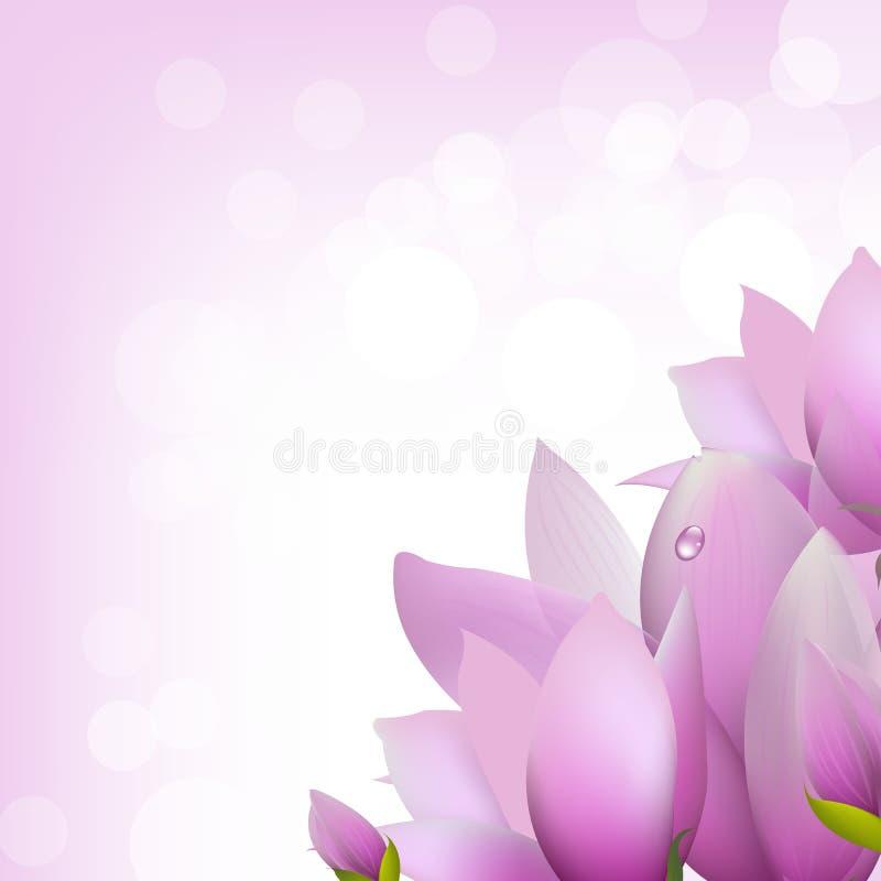 Magnolia con Bokeh ilustración del vector