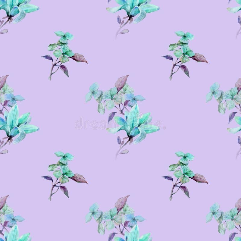 Magnolia en rosa stock de ilustración