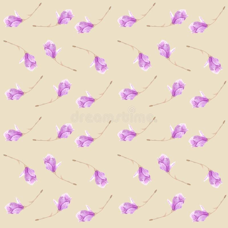 Magnolia floreciente de la ramita Modelo incons?til r libre illustration