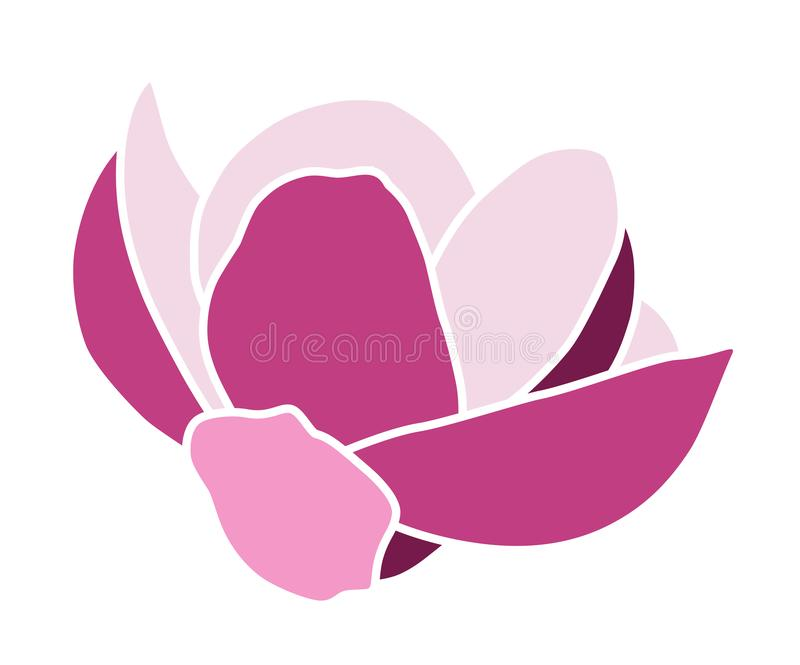 Magnolia flower royalty free illustration