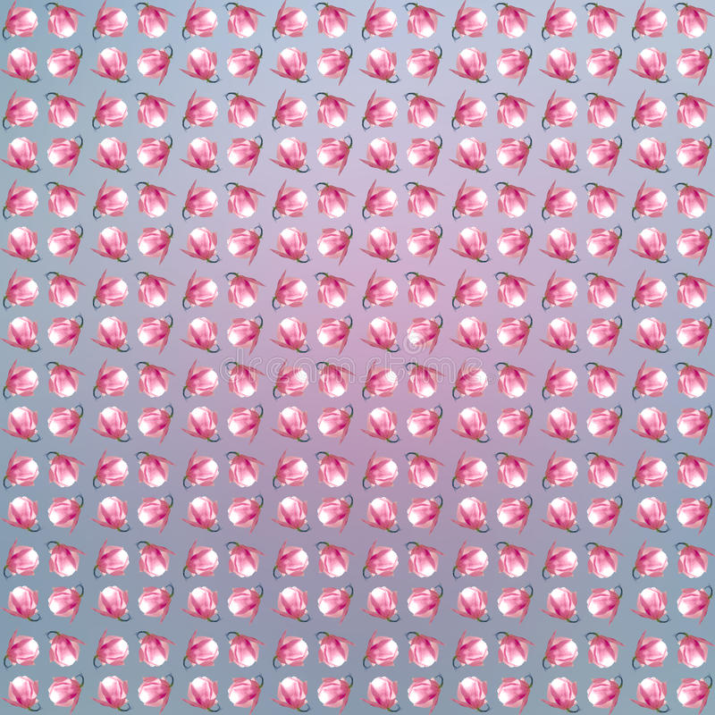 Magnolia Flowers seemless pattern. stock photo