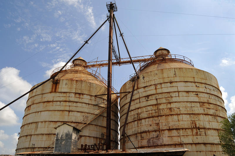 Magnolia Market Silos. Waco, Texas - July 21, 2017: Magnolia Market Silos, built by Chip and Joanna Gaines the stars of television show Fixer Upper. A favorite stock photography