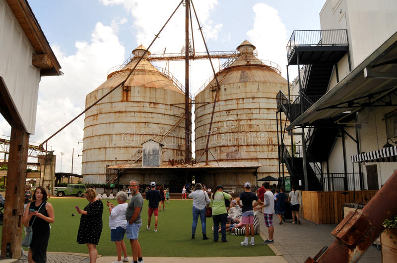 Magnolia Market Silos. Waco, Texas - July 21, 2017: Magnolia Market Silos, built by Chip and Joanna Gaines the stars of television show Fixer Upper. A favorite royalty free stock photos