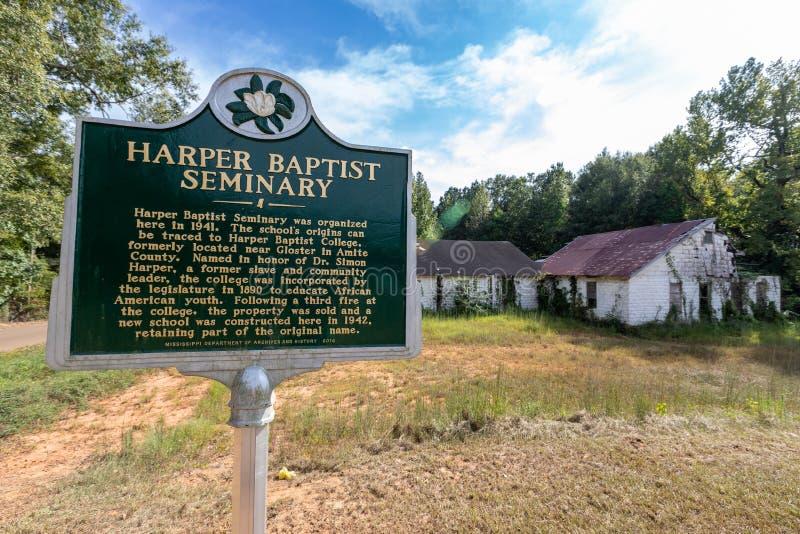 Magnolia, MS - USA, 18 września 2019: Harper Baptist obraz stock