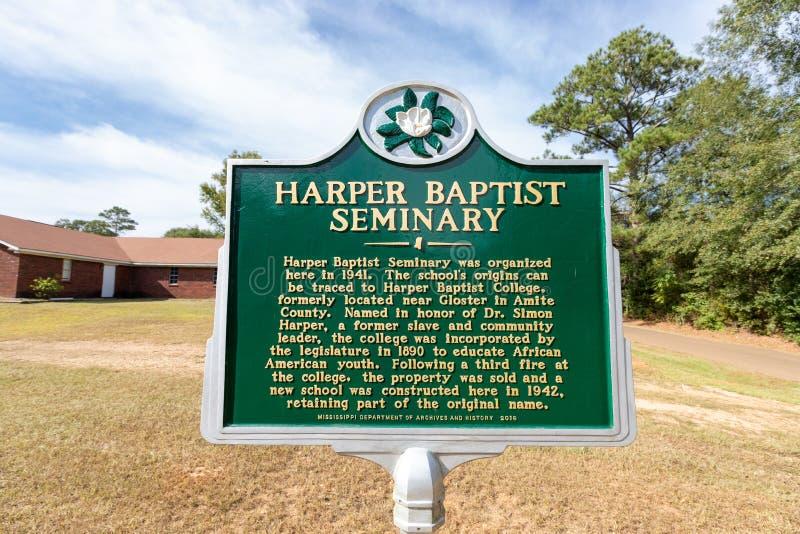 Magnolia, MS - USA, 18 września 2019: Harper Baptist fotografia stock