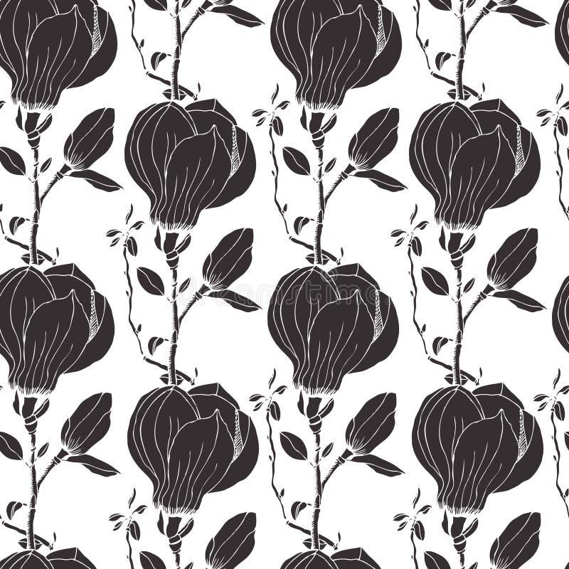 Magnoliaachtergrond royalty-vrije illustratie