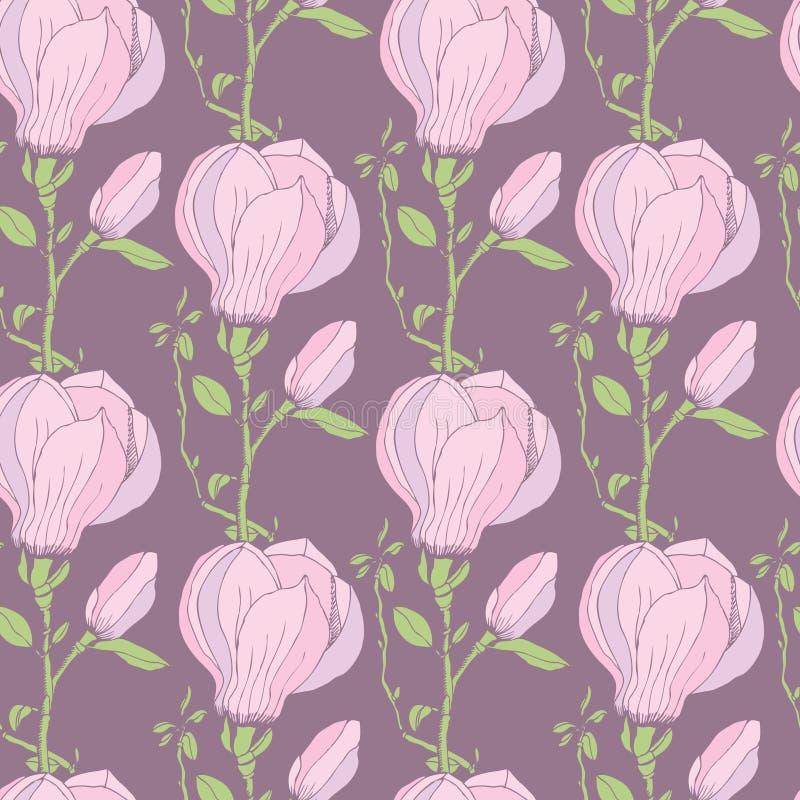 Magnoliapatroon vector illustratie