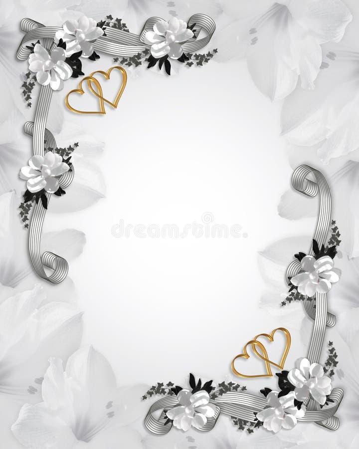 magnolias приглашения wedding белизна бесплатная иллюстрация
