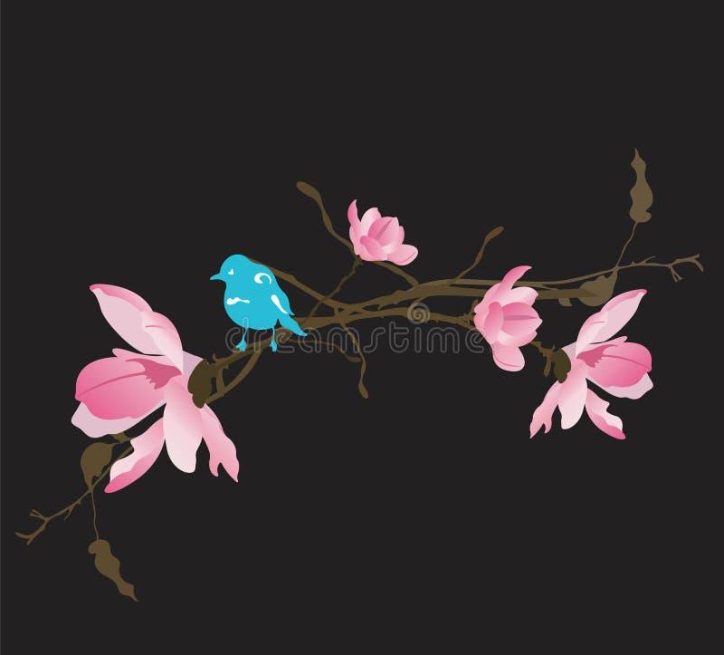 Magnolias ilustração stock