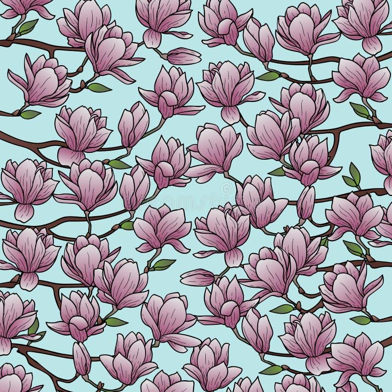 Magnolien-Frühlings-Zusammensetzung stock abbildung