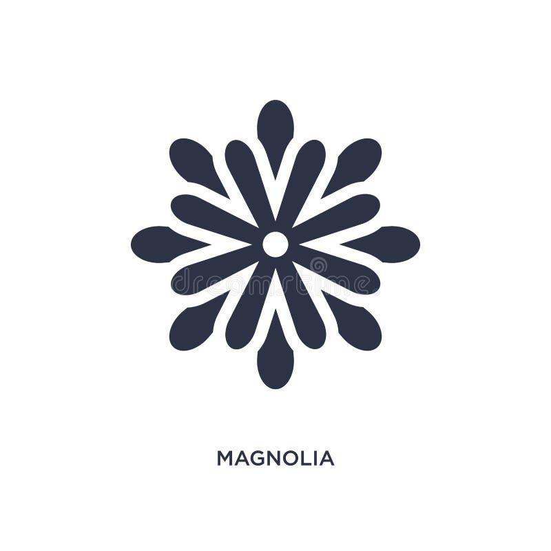 magnoliowa ikona na białym tle Prosta element ilustracja od natury pojęcia ilustracji