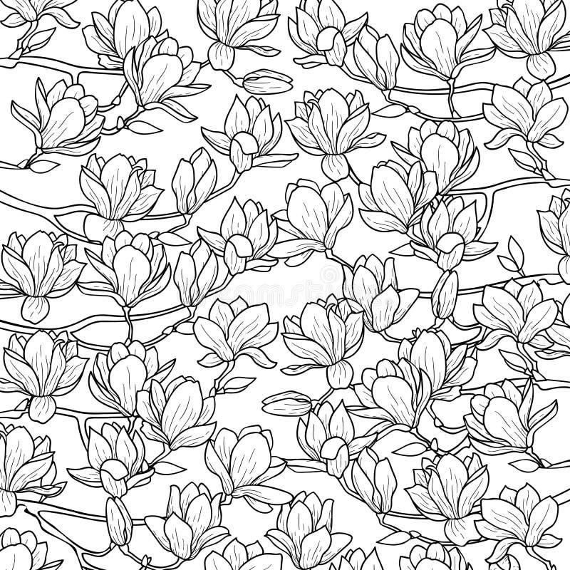 Magnoliowy wiosna skład ilustracja wektor
