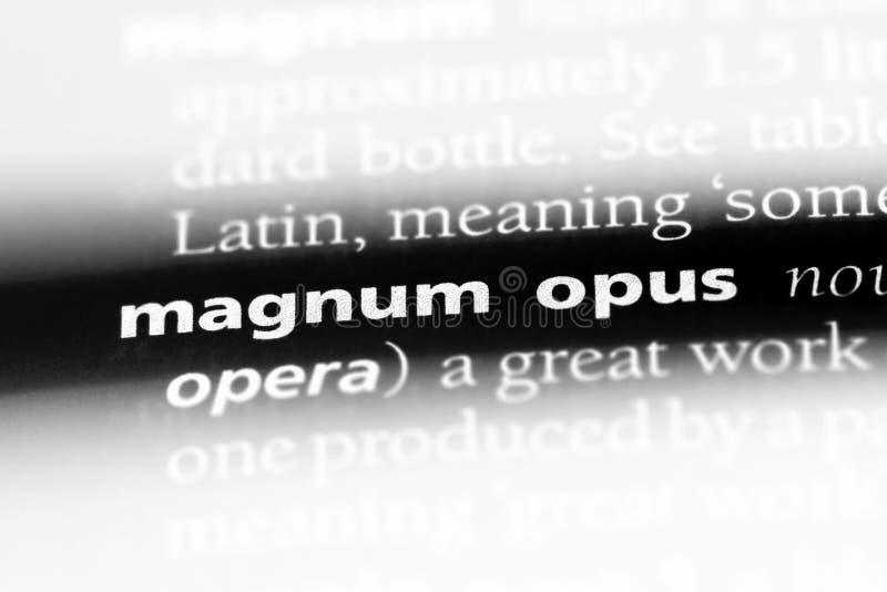 magnum opus stockbilder