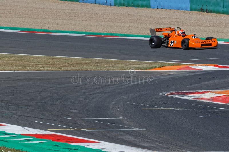 Formula 2 race at French Historic Grand Prix royalty free stock photos