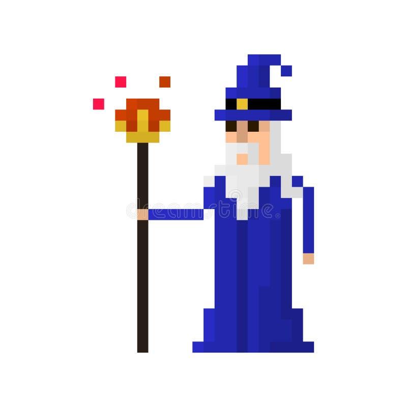 Mago del pixel imagen de archivo