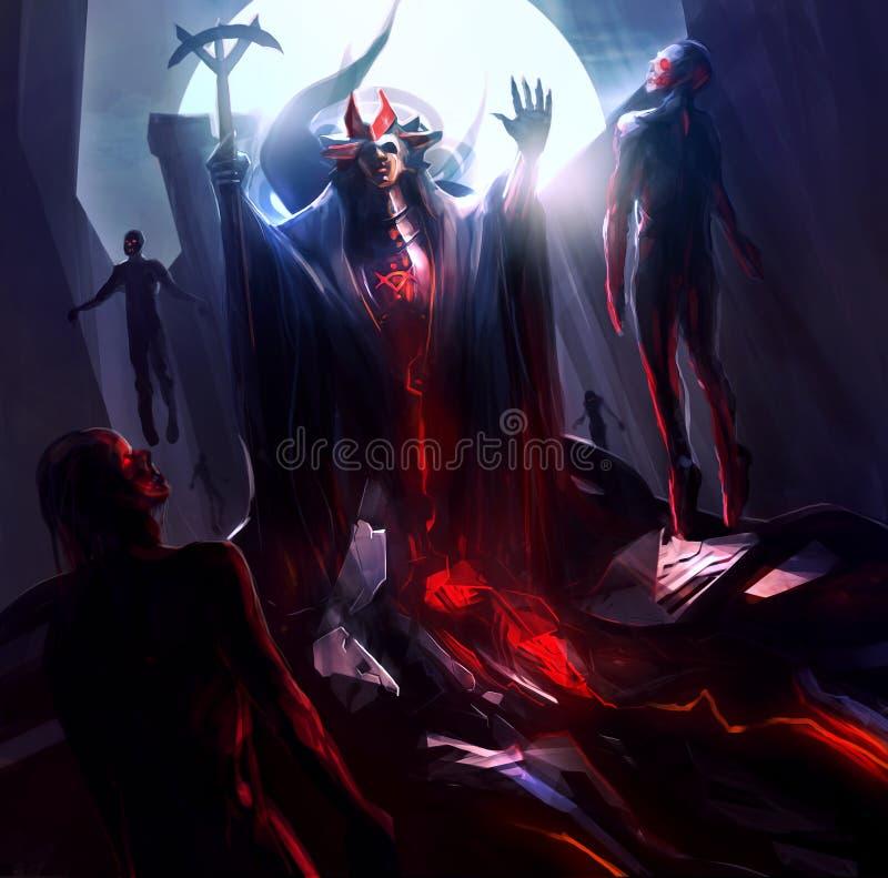 Mago di fantasia royalty illustrazione gratis