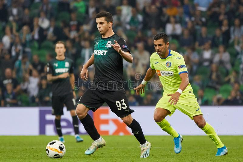Magomed Shapi Suleymanov Of Fc Krasnodar In Action Editorial Stock Image Image Of Fans Goal 160586779
